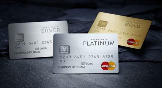 Pure Solid MasterCard : Des cartes de crédits fabriquées avec des métaux de luxe