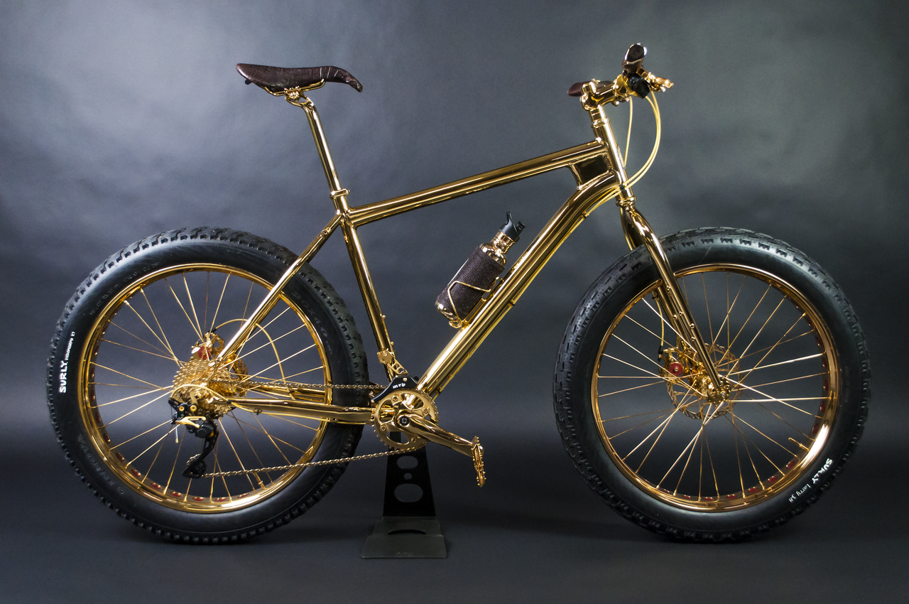 gold mountain bike le v lo le plus cher du monde. Black Bedroom Furniture Sets. Home Design Ideas