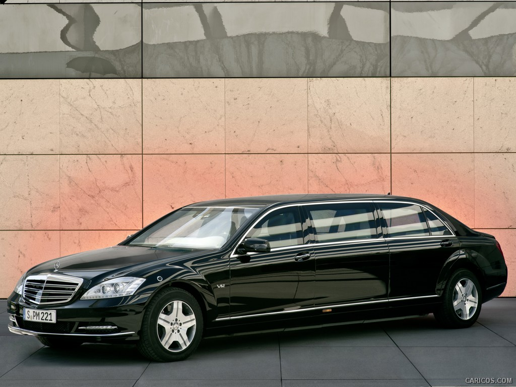 mercedes s600 pullman une limousine de haute protection. Black Bedroom Furniture Sets. Home Design Ideas