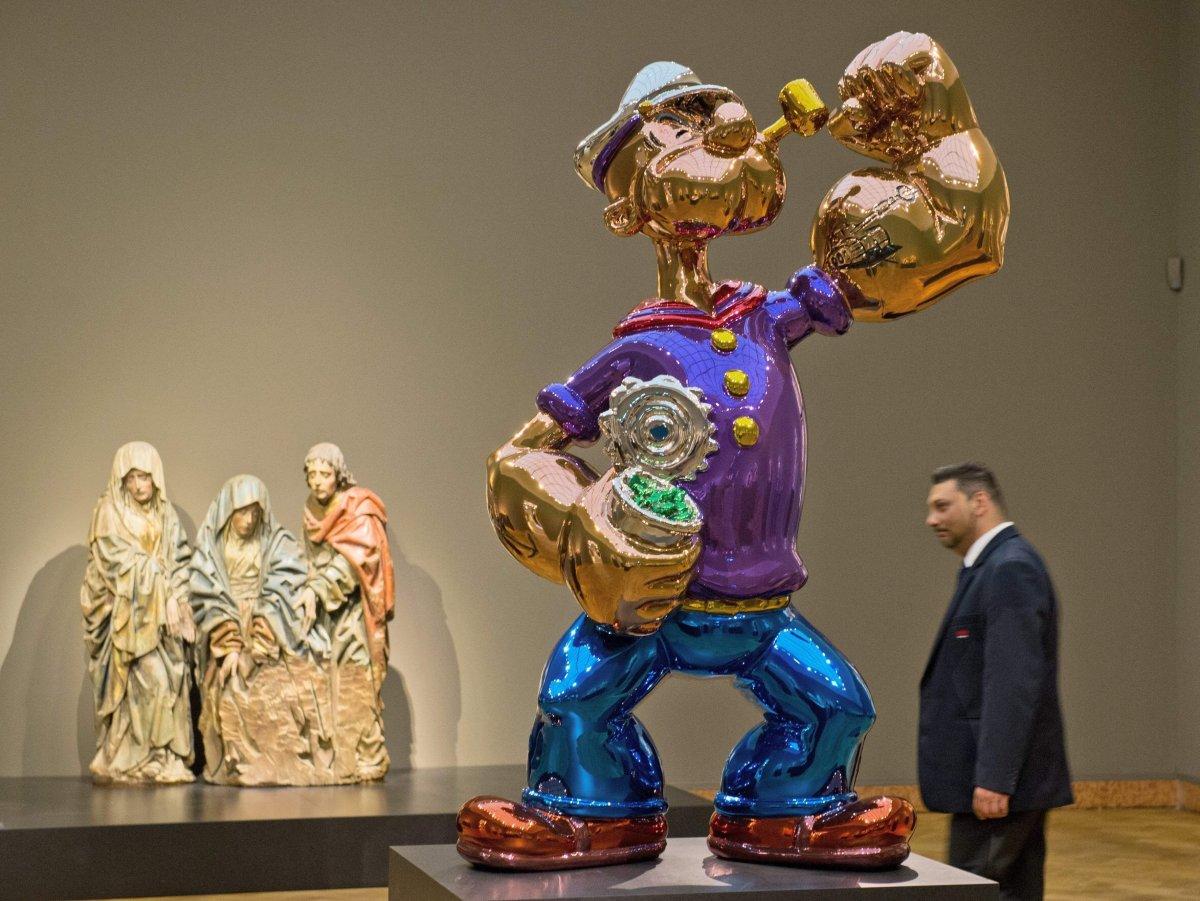 Jeff koons l 39 une des sculptures popeye rachet e par l - En fait de meuble possession vaut titre ...